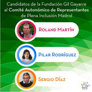 Enhorabuena a Roland, Pilar y Sergio por ser candidatos al Comité Autonómico de Representantes