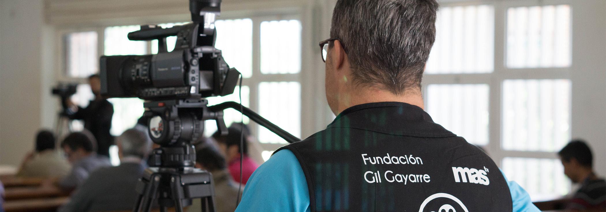 Enfocando el futuro - es un proyecto de Fundación Gil Gayarre en colaboración con Fundación Gmp para la creación de empleo para personas con discapacidad intelectual en el sector audiovisual