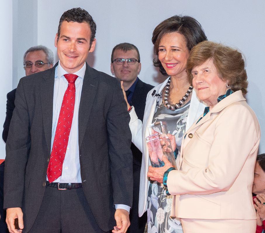 Recogida premio Santander