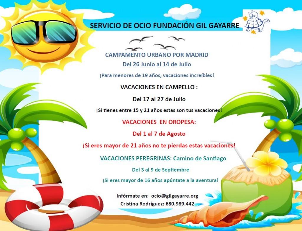Vacaciones de verano Fundación Gil Gayarre 2017