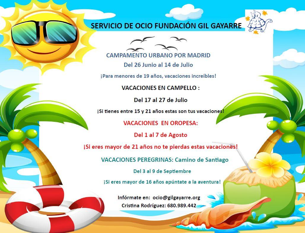Pasa Tus Vacaciones De Verano Con Fundación Gil Gayarre