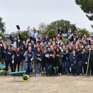 Mejoramos los espacios de nuestra fundación con los Voluntarios de Telefónica
