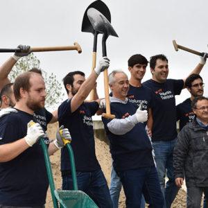 Estas tres semanas, las empresas se vuelcan en acciones de Voluntariado Corporativo hacia nuestra entidad